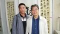 南坡轩创始人杨长义老师与师父、著名书法家秦理斌教授在一起