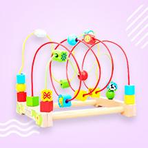"""这是一款练习幼儿动手拨珠及初步 掌握""""数""""的串珠玩具"""