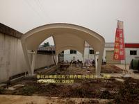 湖南常德市中亚石油洗车机膜结构雨棚