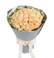 夏之物语----香槟玫瑰50枝