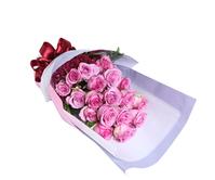 紫对你有感觉----紫玫瑰19枝,红色小