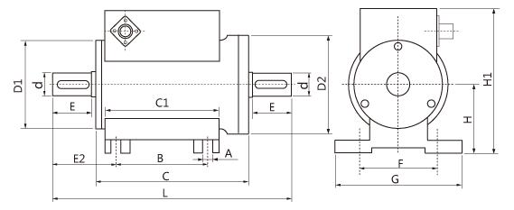 动态扭矩传感器尺寸图