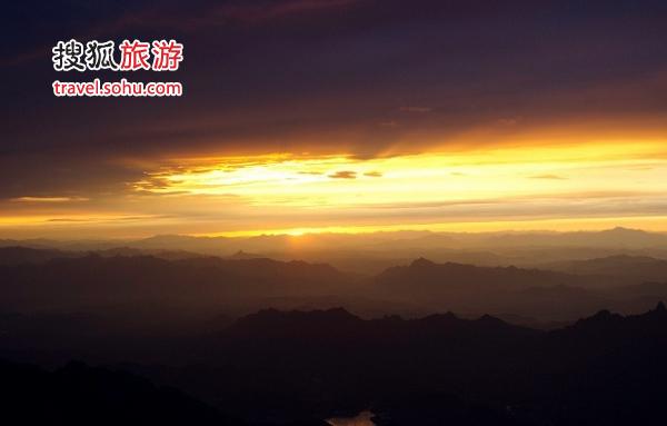 在雾灵山看日落也是非常幸福而美好的事